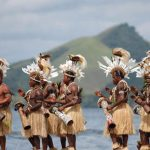 group-festival-dancers-Papuan-Jayapura-Indonesia-2010